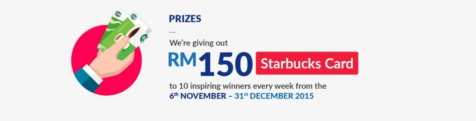 AXA Inspire Life Giving out Rm150 Starbucks Card