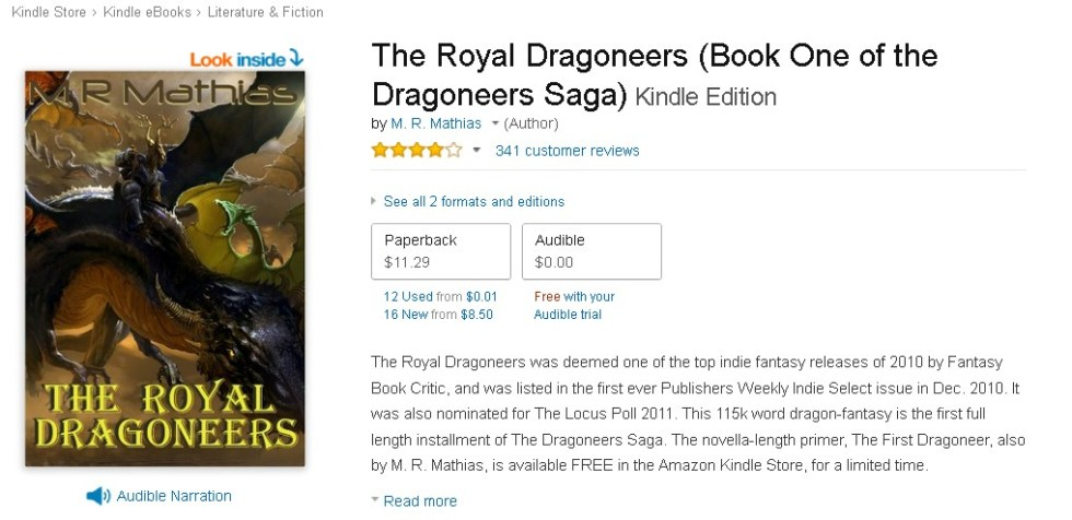 FREE The Royal Dragoneers (Book One of the Dragoneers Saga) Audible Edition