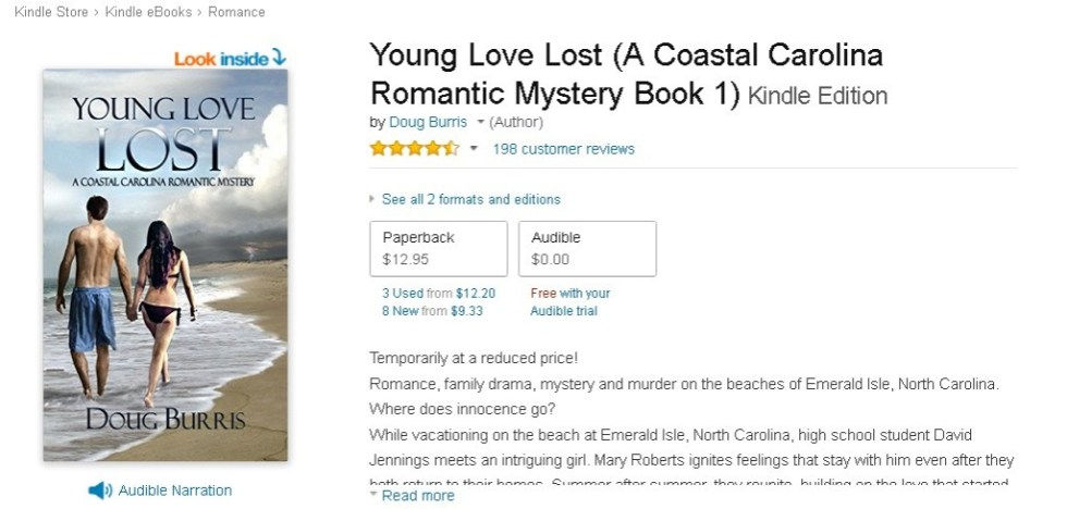 FREE Young Love Lost (A Coastal Carolina Romantic Mystery Book 1) Kindle Edition