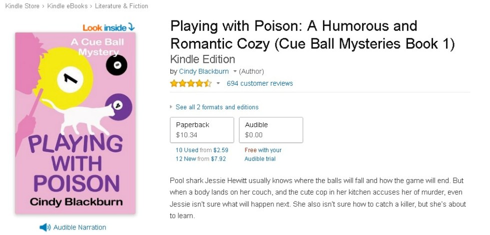 Free Playing with Poison A Humorous and Romantic Cozy (Cue Ball Mysteries Book 1)