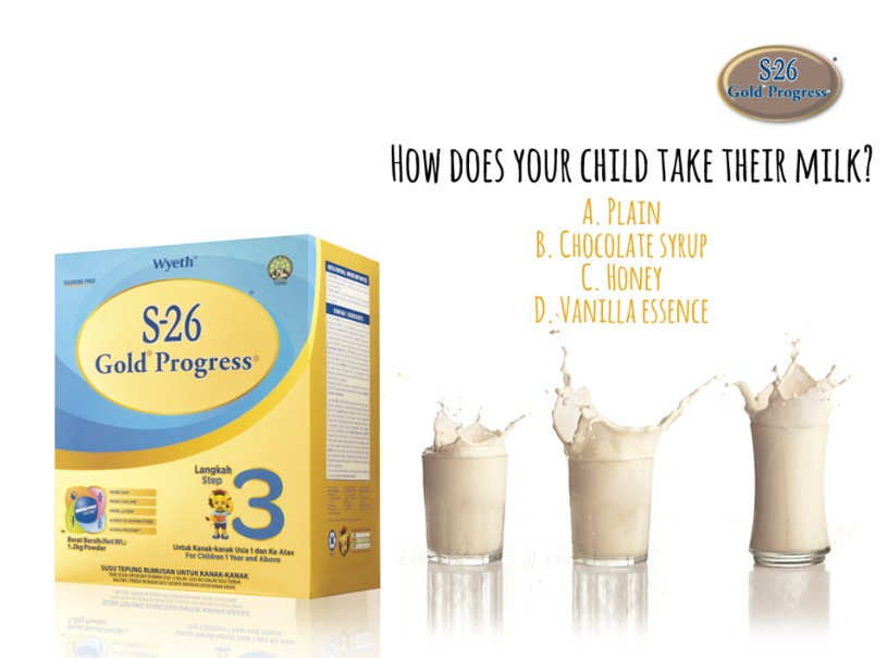 Free S-26 GOLD® Progress® Sample at Wyeth Nutrition Malaysia