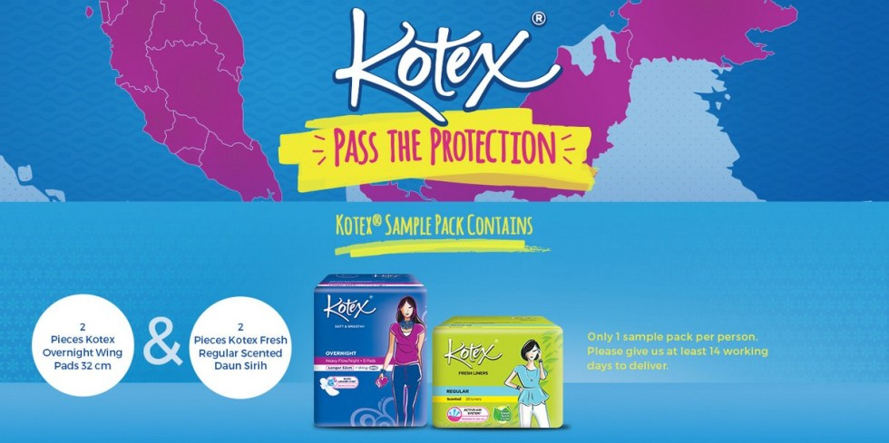 Free Sample Pack at Kotex Malaysia