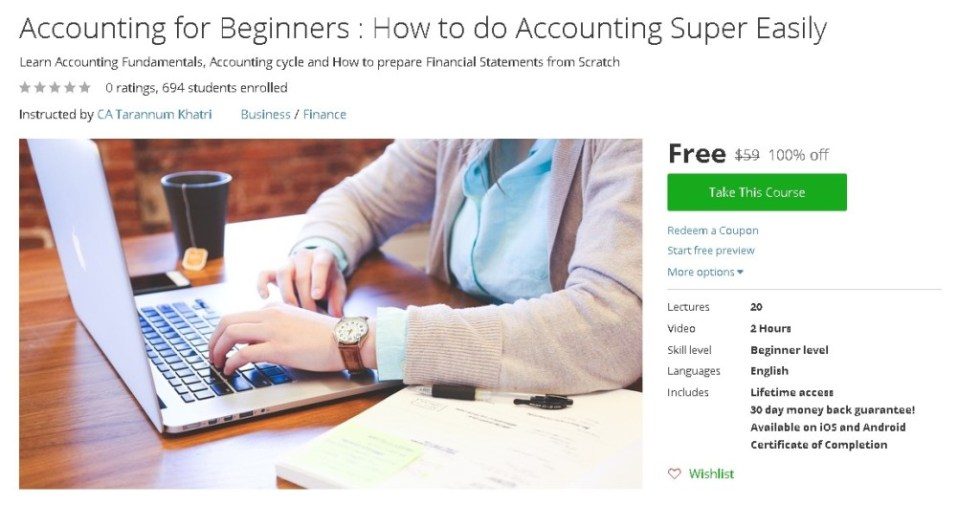 Free Udemy Course on Accounting for Beginners  How to do Accounting Super Easily