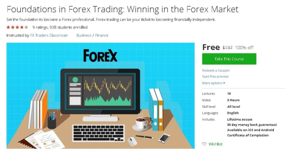 Free Udemy Course on Foundations in Forex Trading Winning in the Forex Market