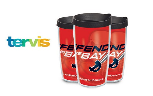 Free cool swag you need to Defend the Bay like a 16 oz. Tervis® Tumbler