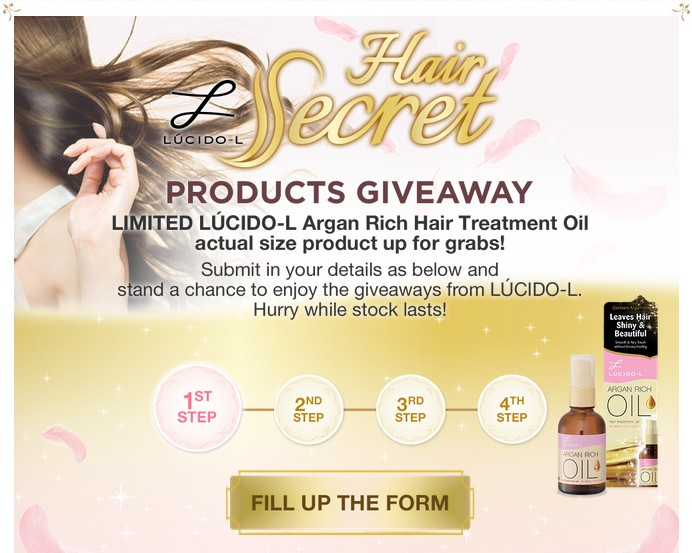 Lucido-l Hair Secret Products Giveaway