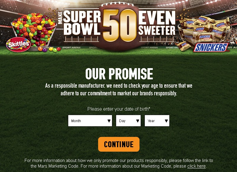 MARS CHOCOLATE NORTH AMERICA LLC MAKE SUPER BOWL 50 EVEN SWEETER GAME