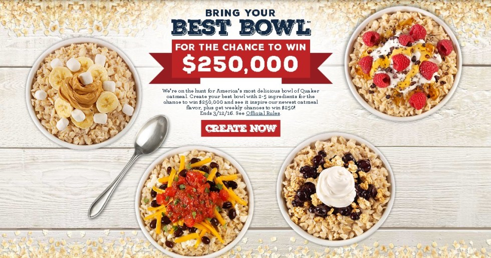 QUAKER BRING YOUR BEST BOWL PROMOTION