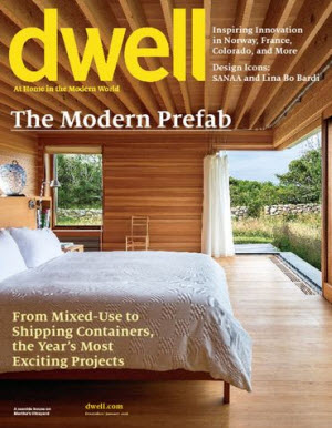 Sign up here for a complimentary one year subscription to Dwell