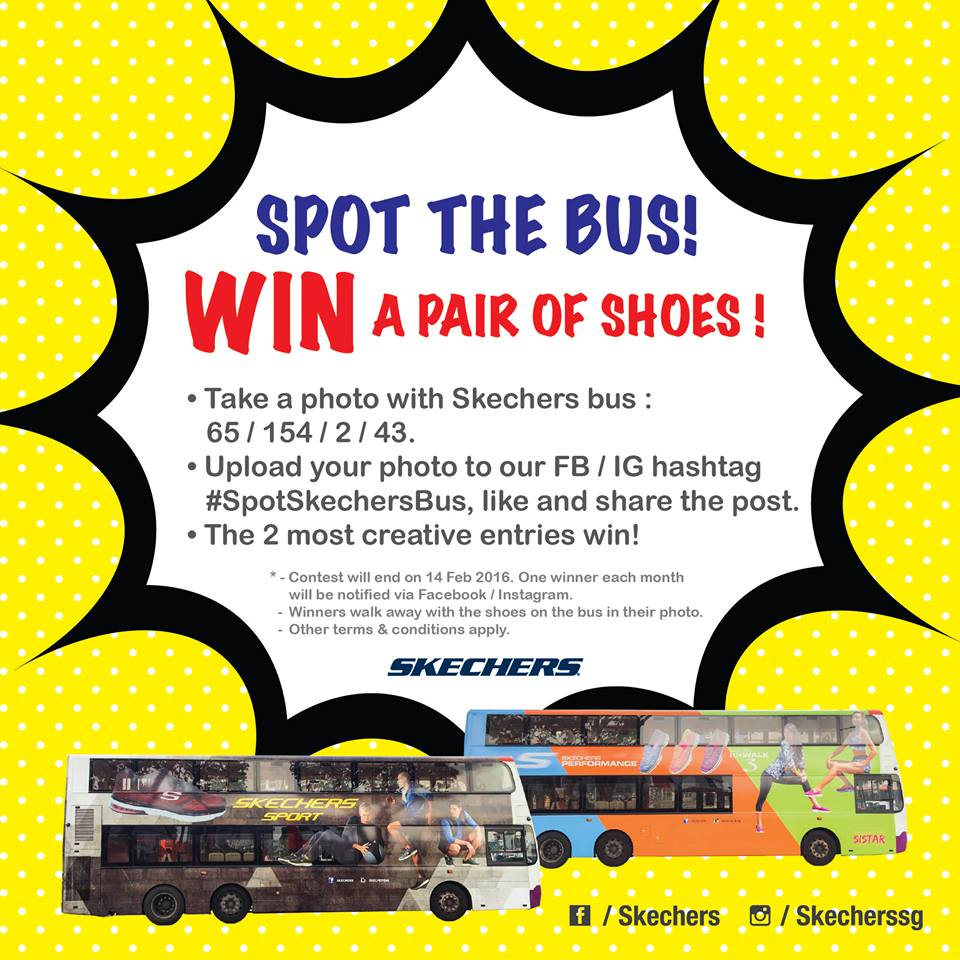 Spot Skechers bus and win a pair of shoes