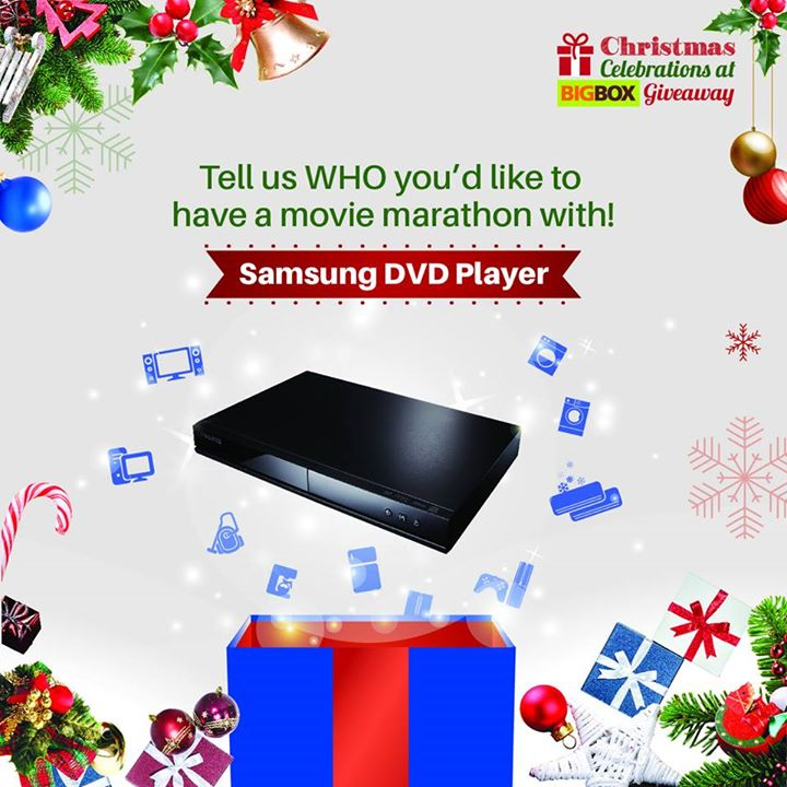 Stand a chance to win a Samsung DVD Player at Big Box