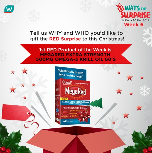 WIN MegaRed Extra Strength 500mg Omega-3 Krill Oil 60'S at Watsons Singapore