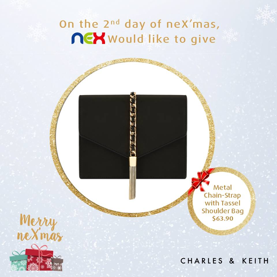 WIN Metal Chain-Strap with Tassel Shoulder Bag from Charles and Keith at nex Singapore