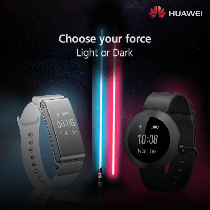 WIN Star wars wearable at Huawei Mobile Singapore
