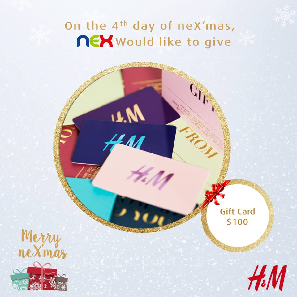 Win $100 H&M giftcard at nex Singapore