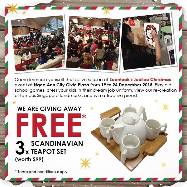 Win Scandinavian Teapot Set at Scanteak SG
