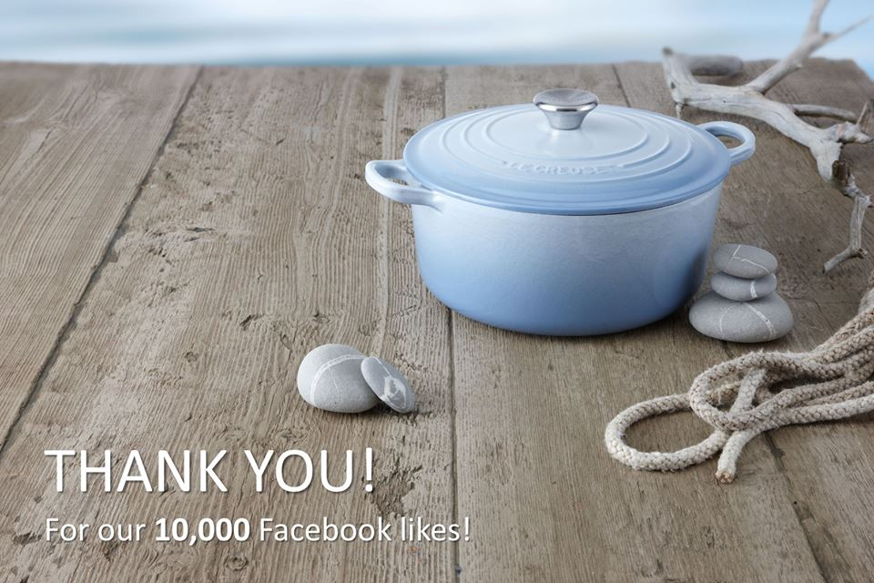 Win a Le Creuset Round French Oven 22cm in Coastal Blue at Le Creuset Singapore