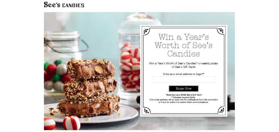 Win a Year's Worth of See's Candies