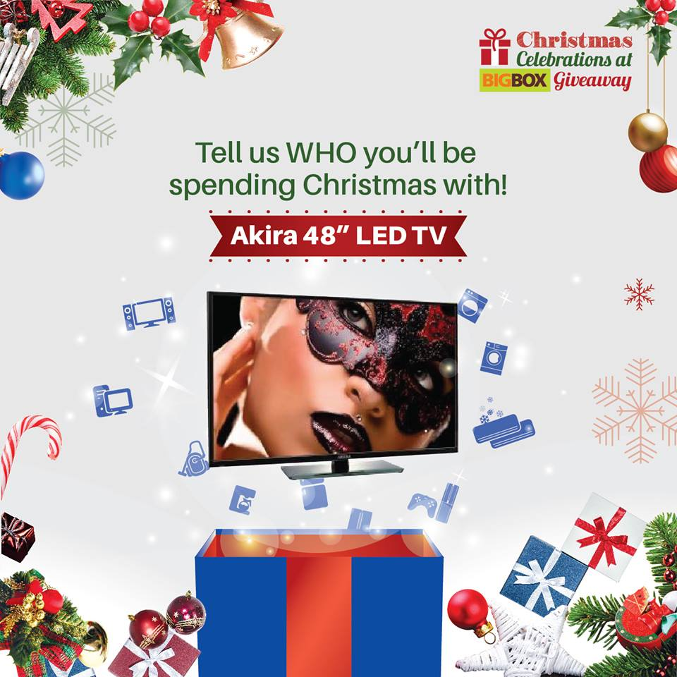 Win an Akira 48 Led TV at Big Box Singapore Christmas Celebrations Giveaway