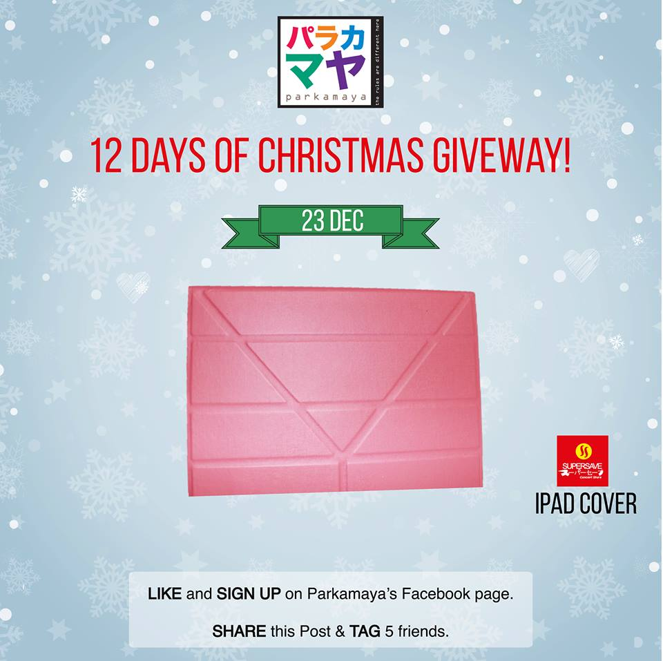 Win iPad cover at Parkamaya Malaysia
