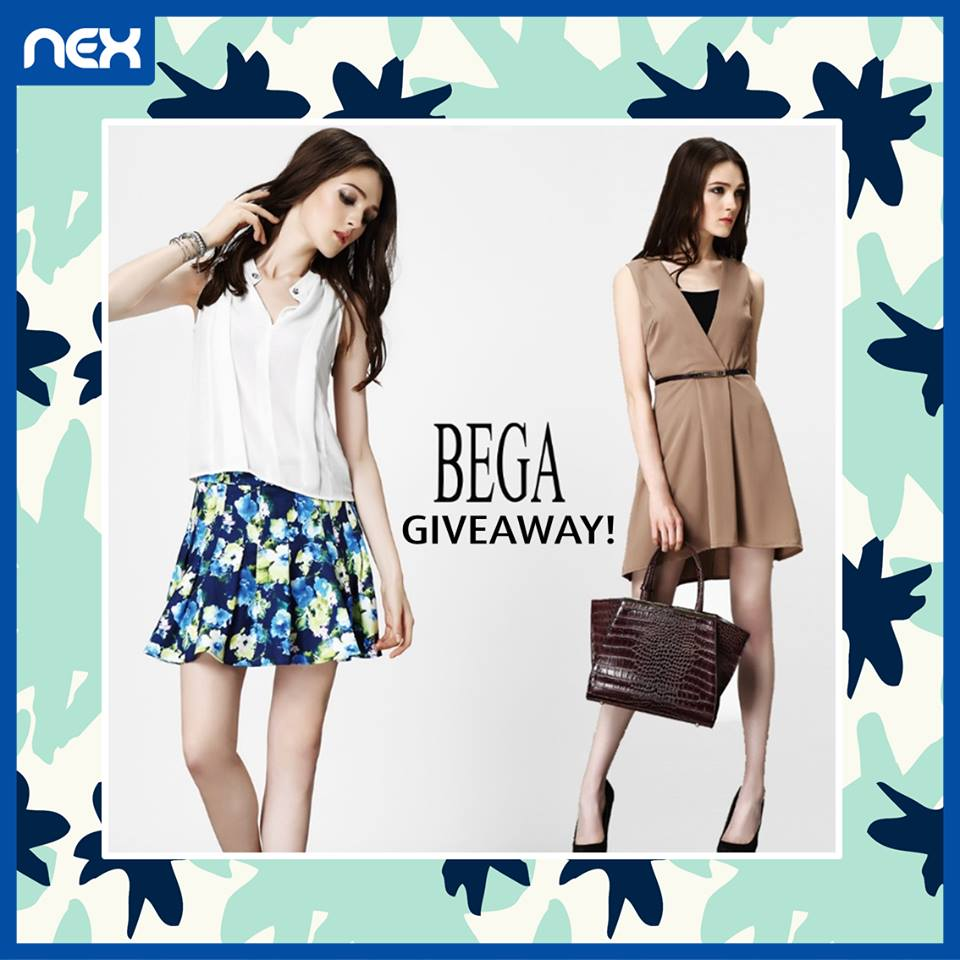 $330 BEGA cash vouchers to give away at nex Singapore