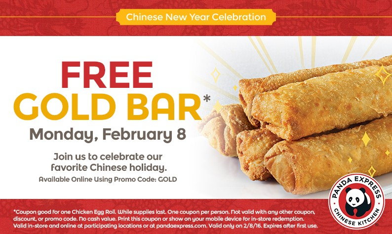 Free Gold Bar at Panda Express
