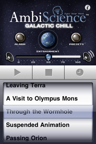 Free  Lifestyle iOS App Galactic Chill  AmbiScience™ • Relax Aid By Tesla Audio Sciences