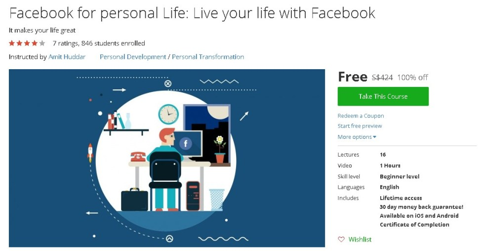 Free Udemy Course on Facebook for personal Life Live your life with Facebook
