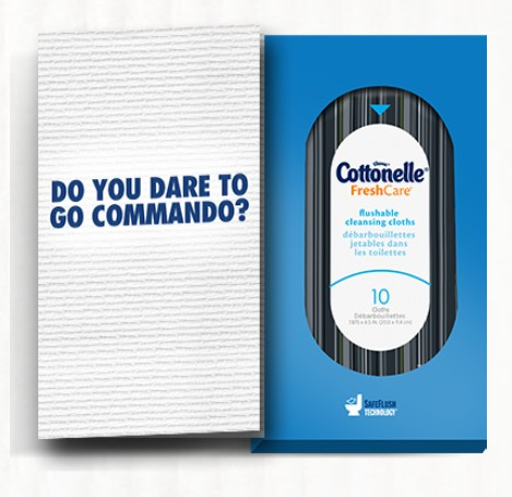 Get your personalized Cottonelle commando kit with a free sample