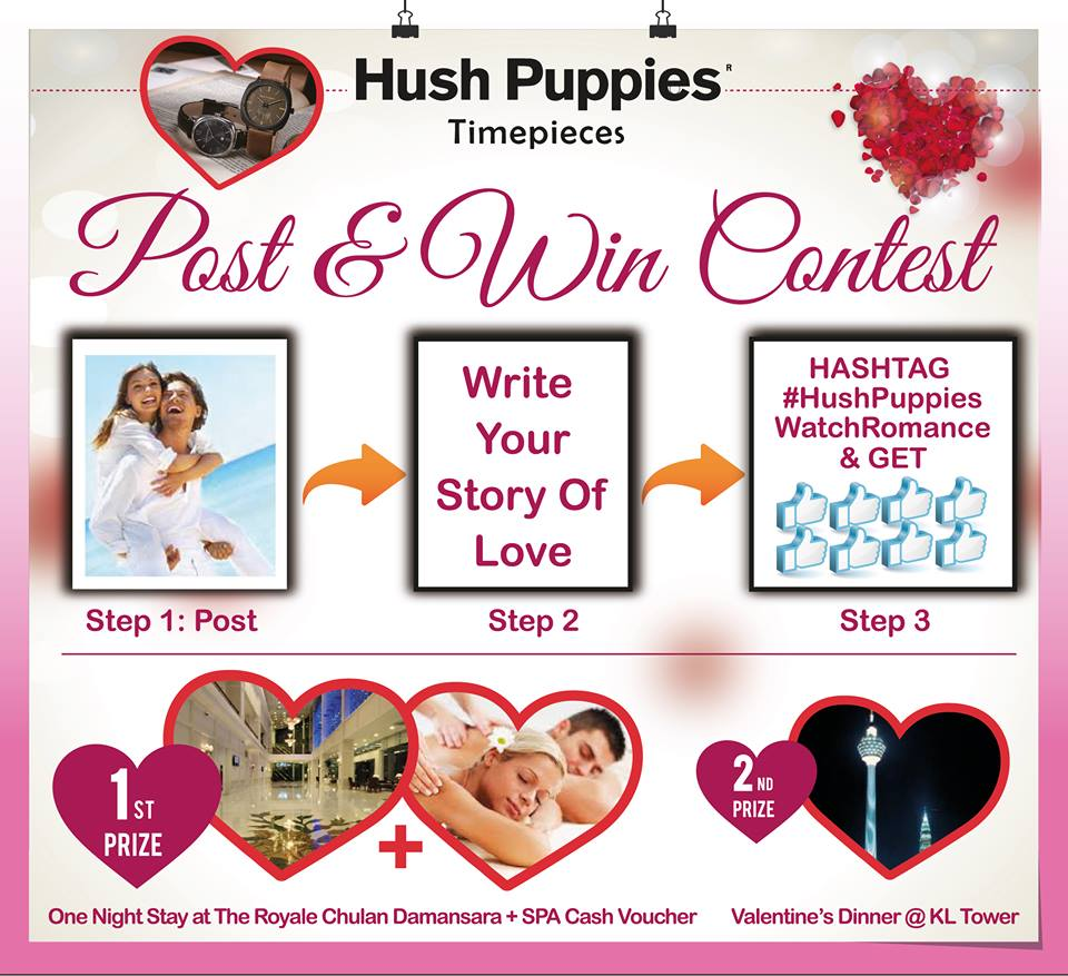 Hush Puppies Watch Romance Contest
