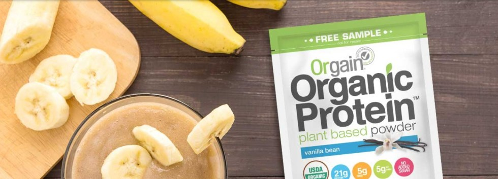 Request a Free Sample at Orgain Protein