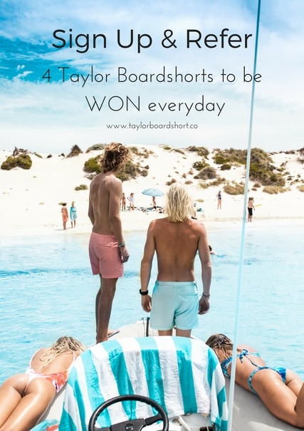 WIN a pair of Taylor Boardshorts