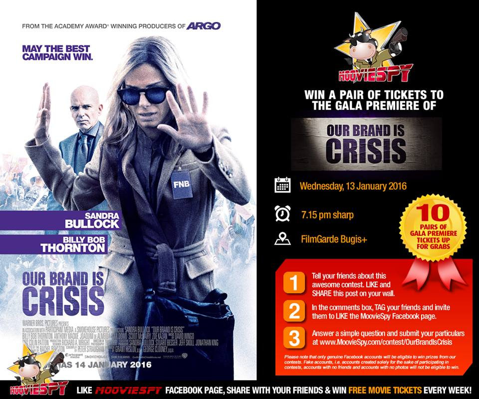 Win a pair of tickets to the preview screening of Our Brand Is Crisis