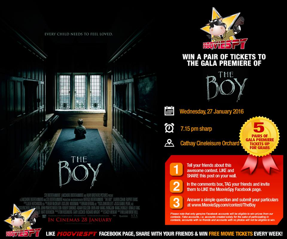 Win a pair of tickets to the preview screening of horror movie The Boy