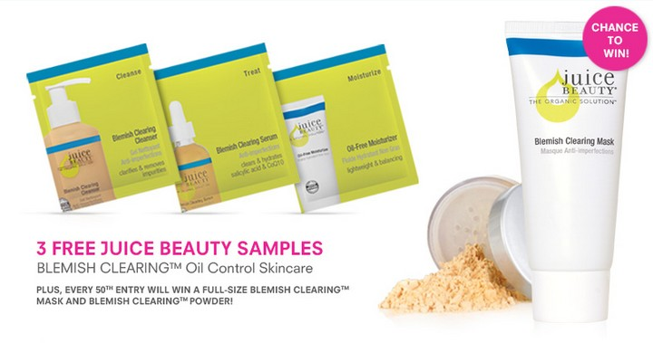 3 Free Juice Beauty Samples Blemish Clearing Oil Control Skincare