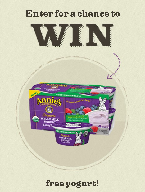 5,000 fans will win a 4-pack of Annie's yogurt