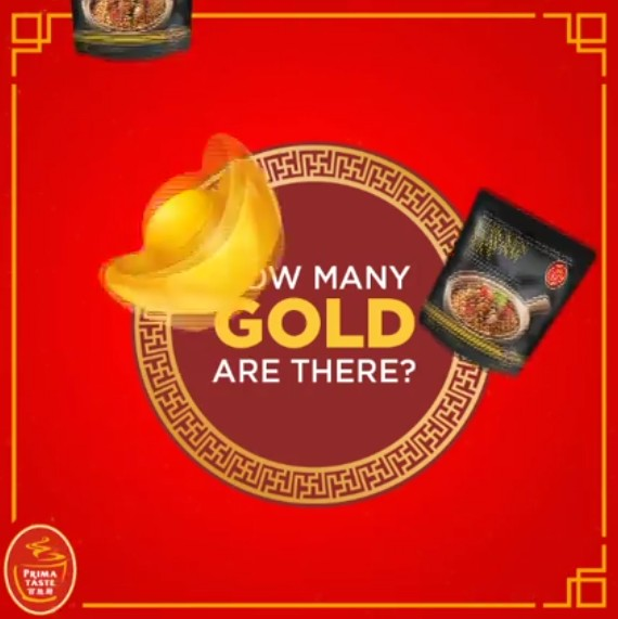 Chinese gold ingots are falling from the sky at Prima Taste