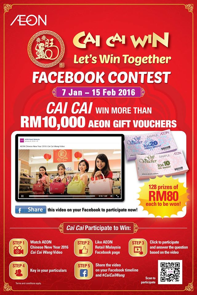 Come join the CAI CAI WIN at AEON Retail Malaysia