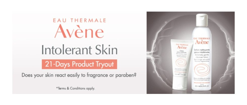 Eau Thermale Avene 21-Day Product Tryout at Avene Malaysia
