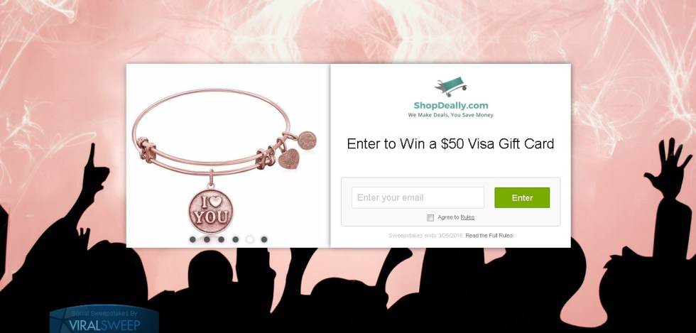 Enter to Win a $50 Visa Gift Card at ShopDeally
