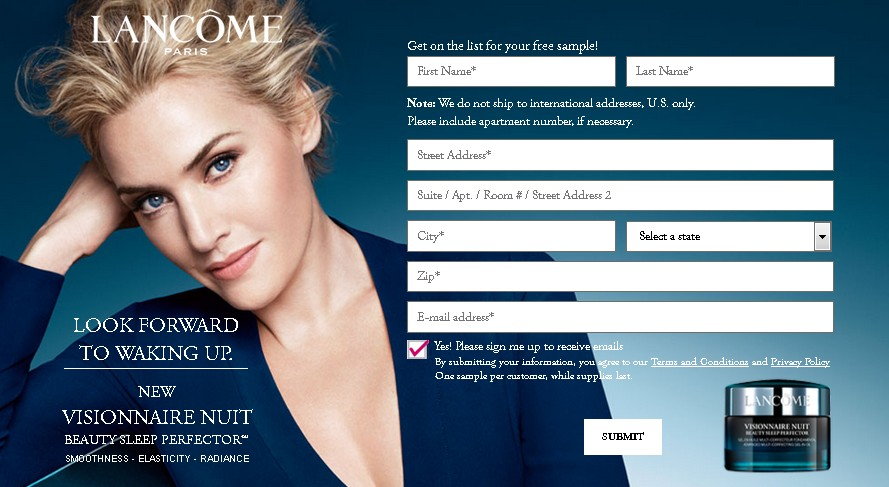 Free Lancome Visionnaire Nuit Sample