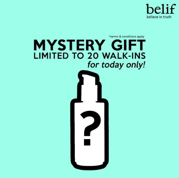 Free Mystery Gifts at Belif Malaysia