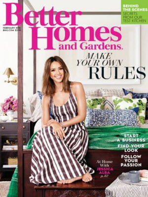 Sign up here for a complimentary one year subscription to Better Homes and Gardens