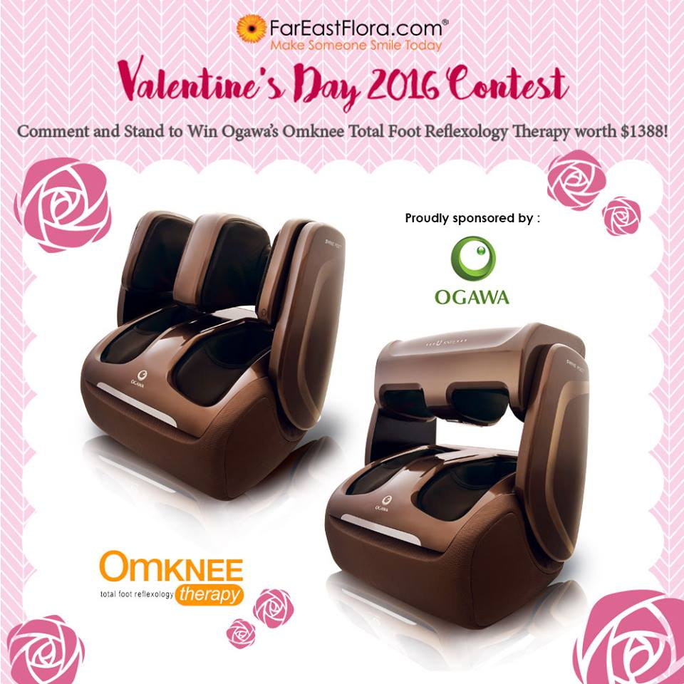 Stand to win an Ogawa Singapore Total Foot Reflexology Therapy at FarEastFlora.com Pte Ltd