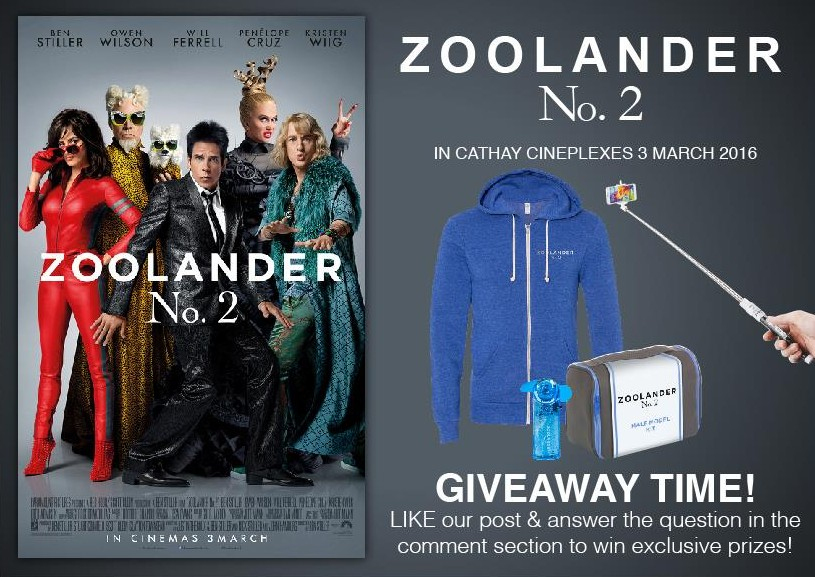 Win Zoolander 2 Movie Premiums at Cathay Cineplexes Sdn Bhd