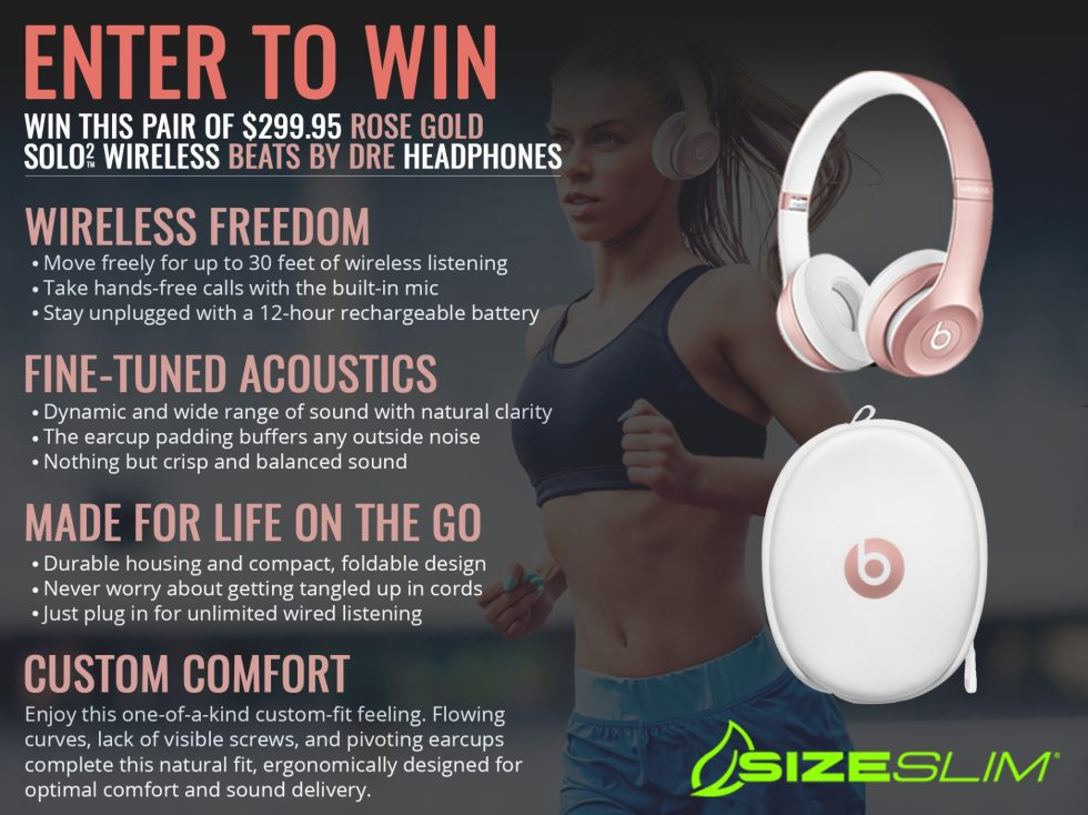 Win a pair of Limited Edition Rose Gold Beats By Dre Solo Wireless 2 Headphones