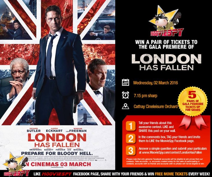 Win a pair of invites to the Gala Premiere of London Has Fallen
