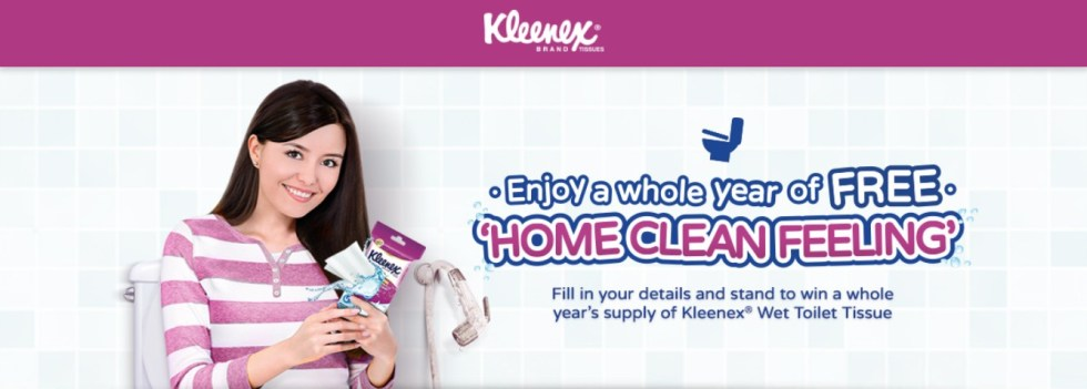 Win a while year's supply Kleenex Wet Toilet Tissue at Kleenex Malaysia