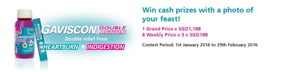 Win cash prizes with a photo of your feast at Gaviscon Double Action