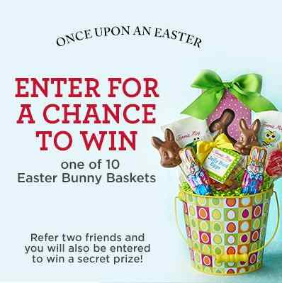 10 Easter Bunny Baskets and the chance to win an even better secret prize at Fannie May Chocolates